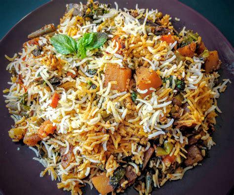 mediterranean cuisine menu veg biryani recipe hyderabadi veg dum biryani vegecravings