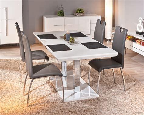 chaise salle a manger design chaise design de salle à manger coloris gris lot de 2