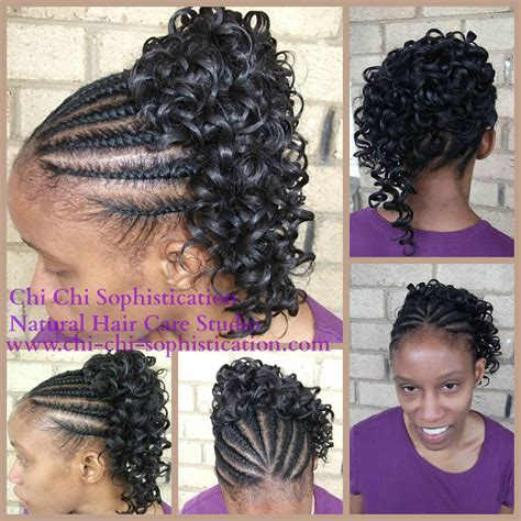 Flat Twist Ponytail Hairstyles by Flat Twist With Synthetic Ponytail Children