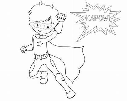 Superhero Coloring Printable Pow Sheets Boys Crazy