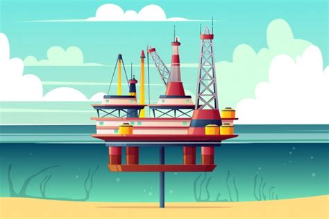 Oil Rig Vectors, Photos And Psd Files