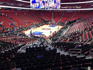 Detroit Pistons Seating Chart With Seat Numbers Little Caesars Arena Section 114 Detroit Pistons