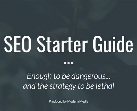 Seo Starter Guide by Seo Starter Guide Modernmedia Io