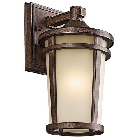 exterior wall lights kichler outdoor wall light in brown finish