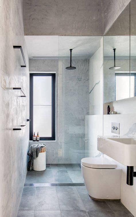 black white  grey bathroom grey marbled tiles black