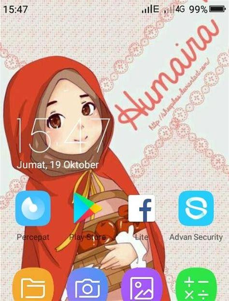 gambar wallpaper kartun hijab keren gambar kartun
