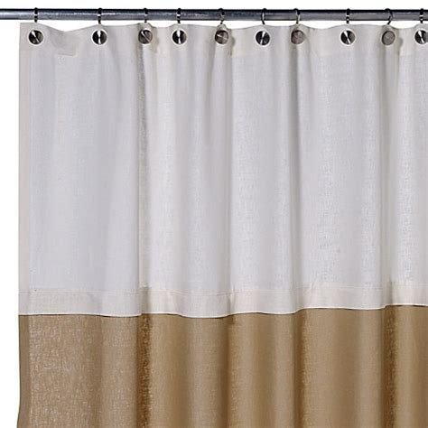 75 Shower Curtain by Buy Soho 72 Inch X 75 Inch Linen Shower Curtain In Khaki