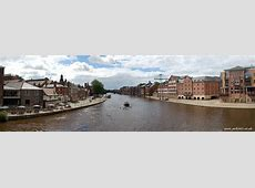 Panorama of The River Ouse from Ouse Bridge in York