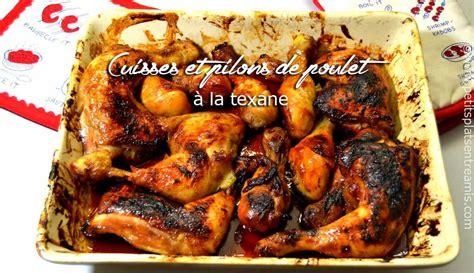 cuisses et pilons de poulet à la texane petits plats