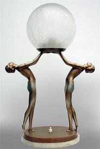 17 basta bilder om antique lamps pa pinterest art deco for Art deco lady floor lamp