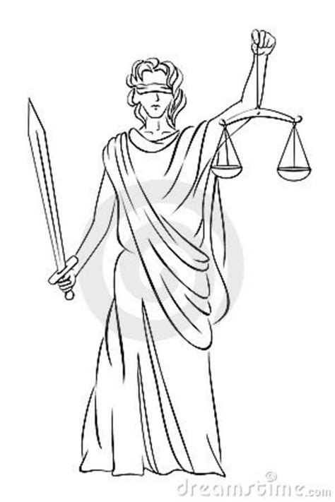 Lady Of Justice Drawing at GetDrawings | Free download