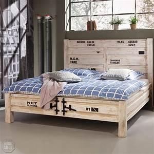 bett 6910 container von wolf m bel in massivholz akazie antik weiss used look ebay