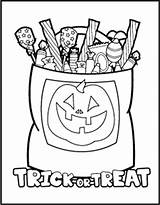 Halloween Coloring Candy Pages Printable Printables Trick Treat Preschool Fun Getcolorings Homemade Worksheets Hallo sketch template