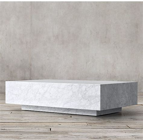 The similar console table option is a thousand dollars less here. Marble Plinth Coffee Table | Concrete coffee table, Coffee table restoration hardware ...