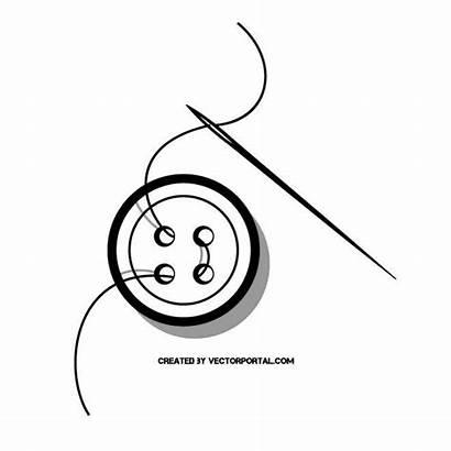 Needle Thread Button Vector Vectorportal Clipart Vectors