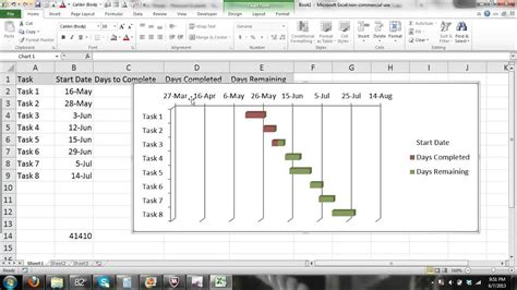 microsoft excel gantt chart tutorial excel  part  automated progress gantt chart tu youtube