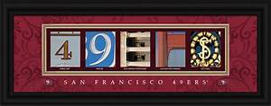 San Francisco 49ers Officially Licensed Framed Letter Art ...