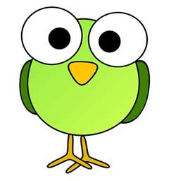 Cartoon Eyes Clip Art Bird