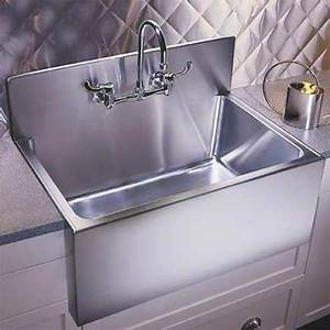 culinary gourmet stainless steel kitchen sinks With apron front sink with backsplash