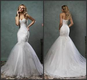 new arrival mermaid white 2016 amelia sposa lace wedding With lace wedding dresses 2016