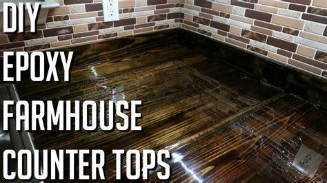 diy farm house epoxy counter tops xs youtube