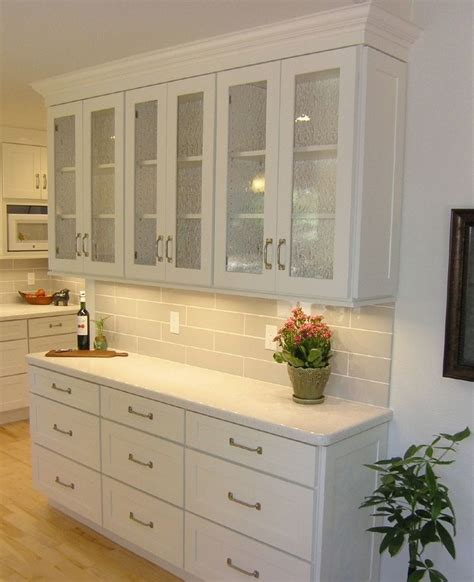 kitchen island with open shelves it personal with mullion glass door cabinets