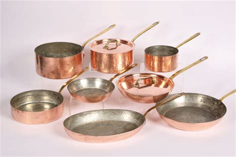 large collection  havard copper cookware   france  black rock galleries