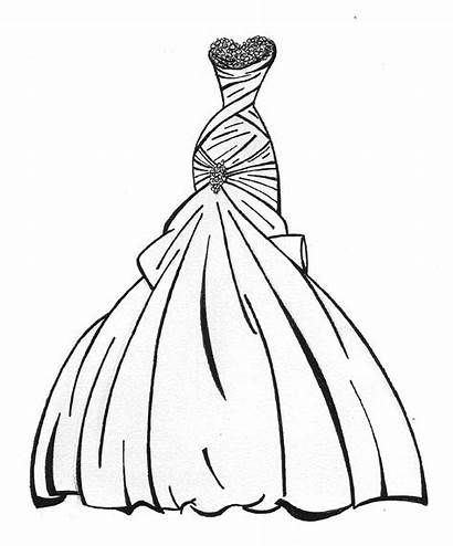 Princess Coloring Pages Dresses Printable Drawing Getcolorings