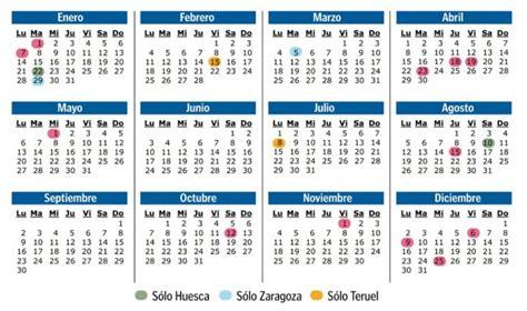 calendario laboral en aragon los festivos en