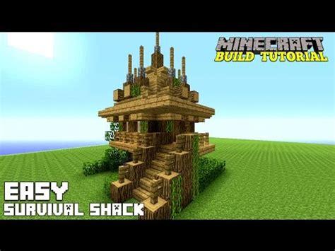 minecraft   build  small survival house tutorial easy survival shack medieval