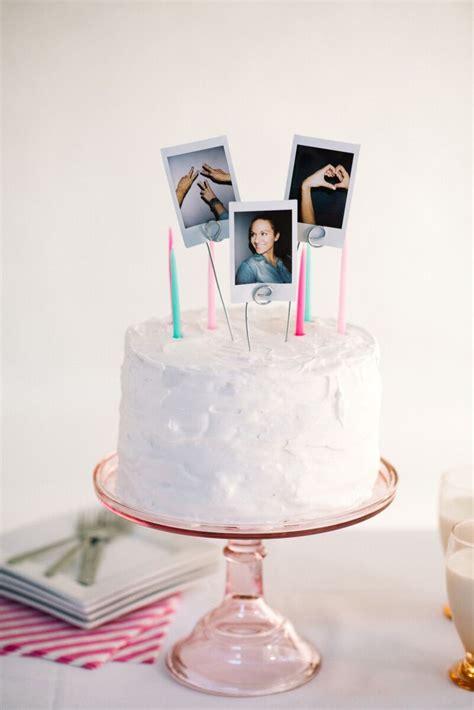 diy polaroid cake topper let s mingle blog