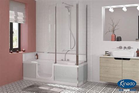 badewanne einbauen mit wannenträger kinedo by sfa sanibroy dusch badewannen duo duschen und baden in einem wohn beratung de