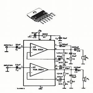 20 Watts Rms Amplifier Using Tda2004