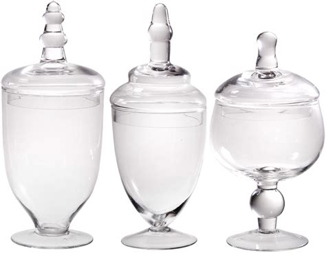 clear glass kitchen canister sets kitchen bathroom decor clear glass canister jar lid set 3