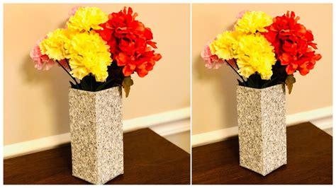 diy flower vase making diy home decor easy waste