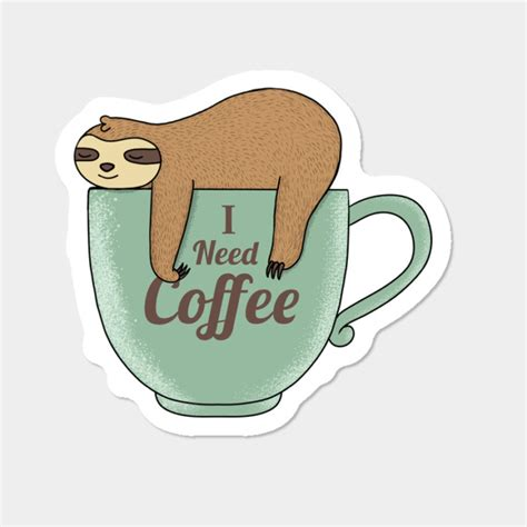 And if you add a good, solid breakfast… oh, man… the day is up to a good start! I Need Coffee Sticker By Coffeeman Design By Humans