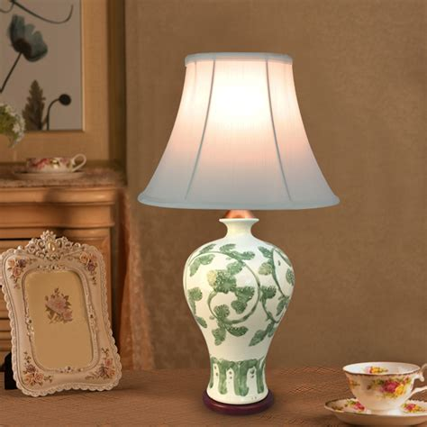 Ceramic Table Ls For Bedroom by European Style 110v 220v Light Source Fabric Lshade