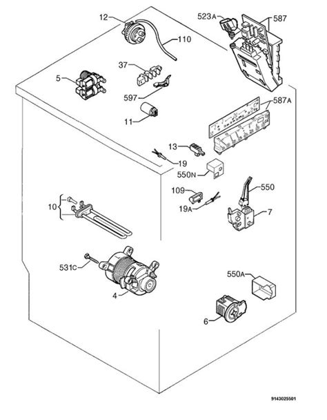 electrolux ewf1087 91490004700 washing machine electrical equipment spare parts diagram