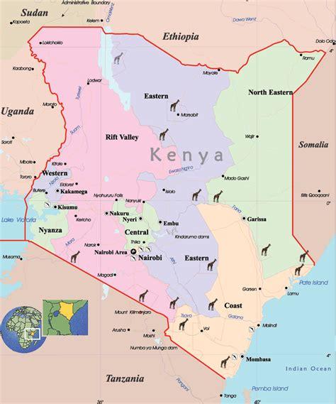 maps  kenya