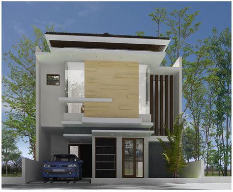 rumah minimalis modern  lantai tampak depan