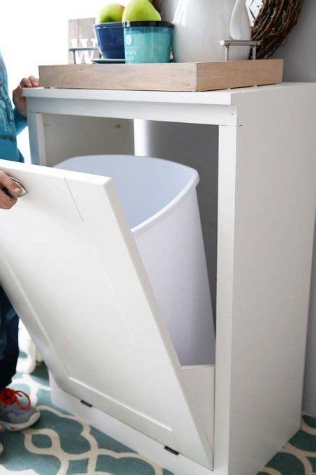 build  custom tilt  trash cabinet trash