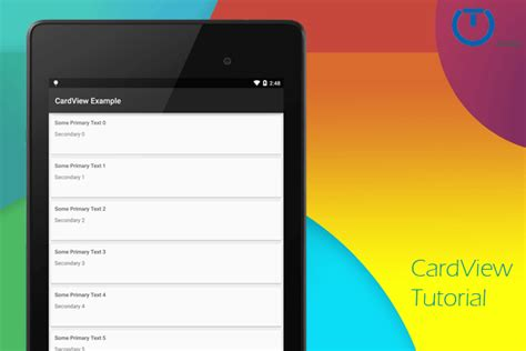 android cardview  truiton