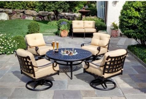 alfresco home chateau pit chat set contemporary