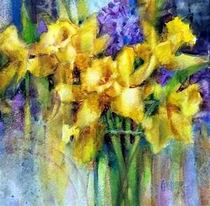 Art Talk - Julie Ford Oliver: Watercolor Daffodils
