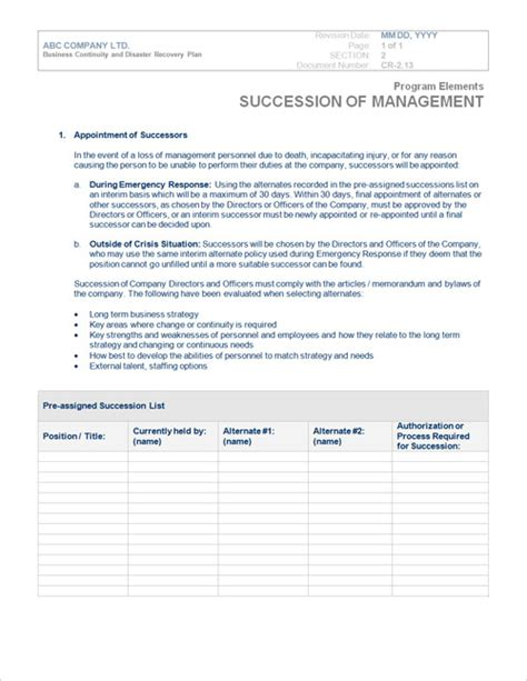 disaster plan template disaster recovery plan template cyberuse
