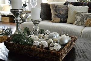 rustic christmas decorating ideas the girl creative With rustic coffee table centerpieces
