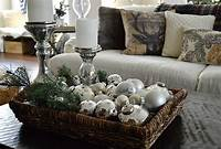 coffee table centerpieces Rustic Christmas Decorating Ideas - The Girl Creative