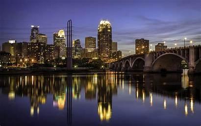 Minneapolis Wallpapers Bridge River Wallpaperaccess Desktop Night