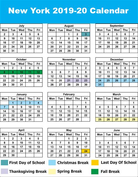 nyc school holidays calendar nyc school calendar