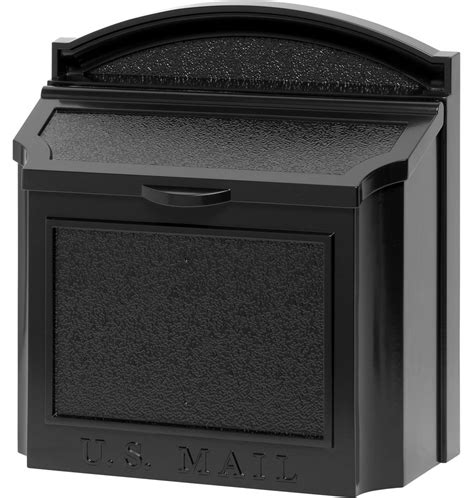 wall mount mailbox aluminum wall mount mailbox in home mailboxes 4612